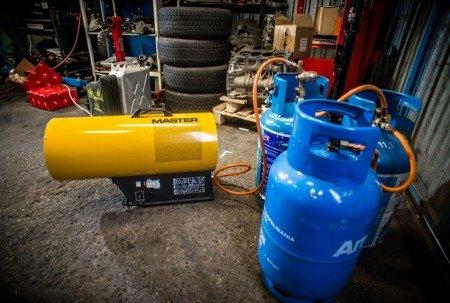 Nagrzewnica gazowa Master BLP 11M + zestaw do sprzęgania butli