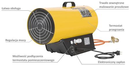 Nagrzewnica gazowa Master BLP 53ET + termostat TH5 10m