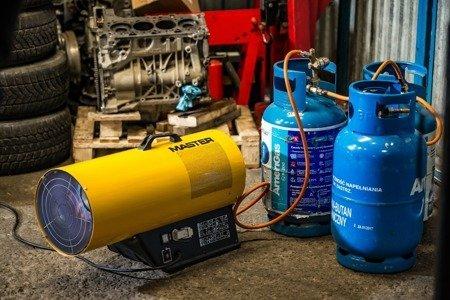 Nagrzewnica gazowa Master REM 33 + zestaw do sprzęgania butli