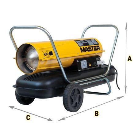 Nagrzewnica olejowa Master B 100 CED + termostat TH5 3-metrowy